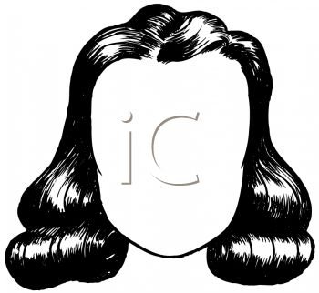350x322 Picture Of A Wig Sitting On A Mannequin Head In A Vector Clip Art