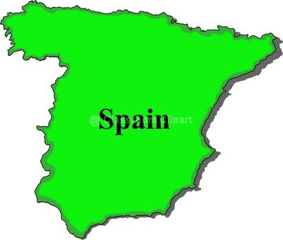 400x339 Map clipart of spain