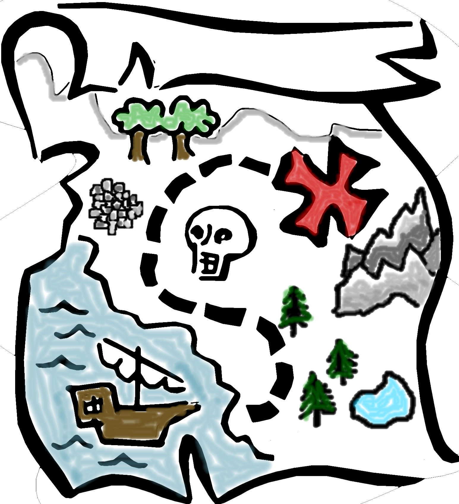 1545x1697 Pirate map clip art 4