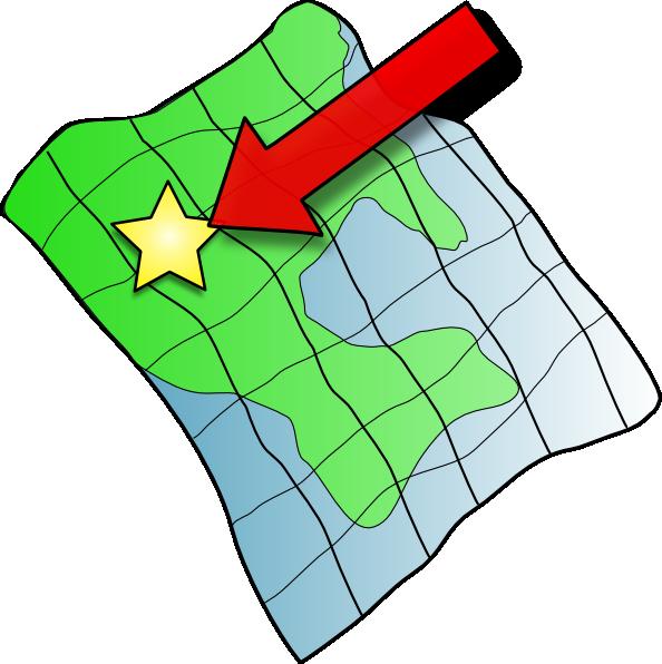 594x596 Ruffled Map Clip Art