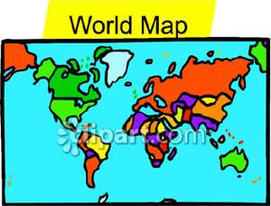 300x228 Top 78 World Map Clip Art