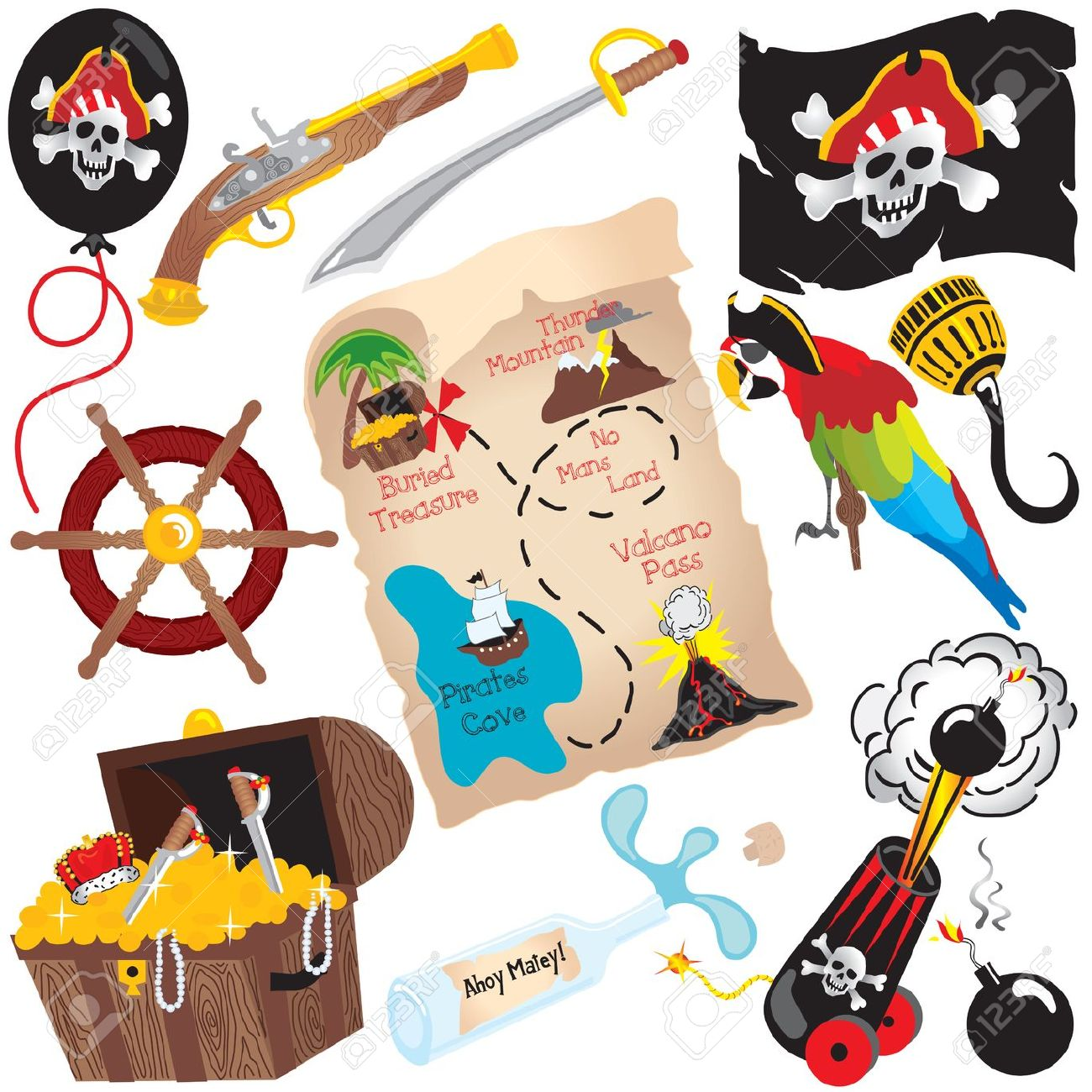 1300x1300 Treasure map symbols clip art dfiles