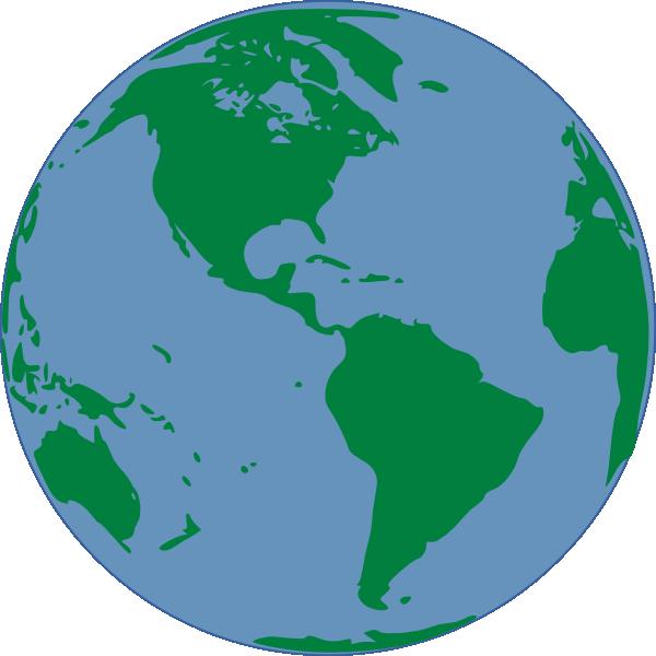 600x600 World Map Clip Art