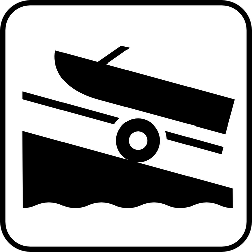 500x500 Us National Park Maps Pictogram For A Boat Trailer Area Vector