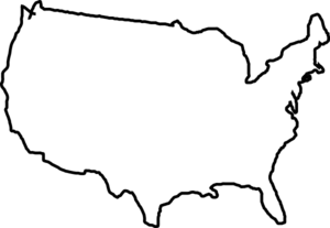 300x207 White Map Usa Clip Art