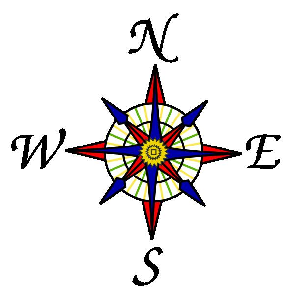 582x596 Compass Rose Clip Art