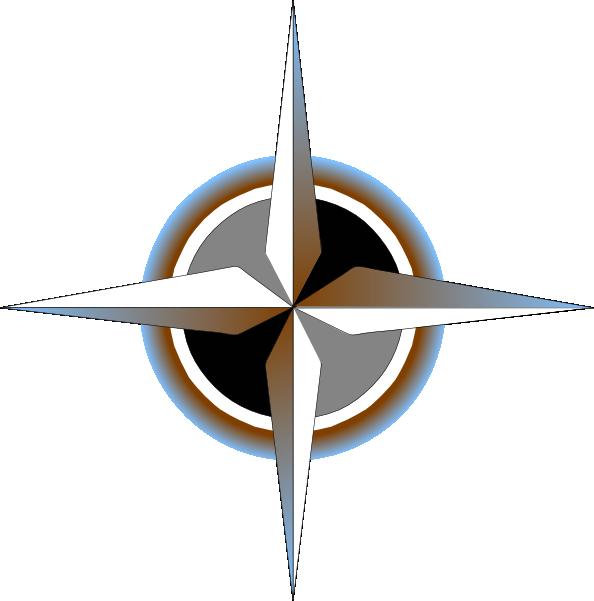 594x601 Map Compass Clipart
