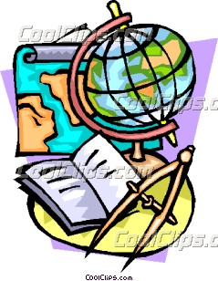 239x308 Navigation With Globe, Compass And Map Clip Art