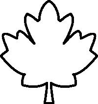 200x212 Maple Leaf Black And White Clipart Panda