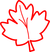 200x207 Maple Leaf Outline Clipart 2230246