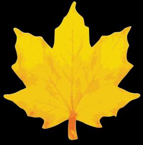 292x297 Orange Maple Leaf Clip Art