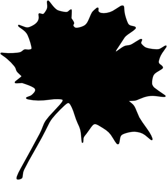 552x597 Black Leaf Clip Art