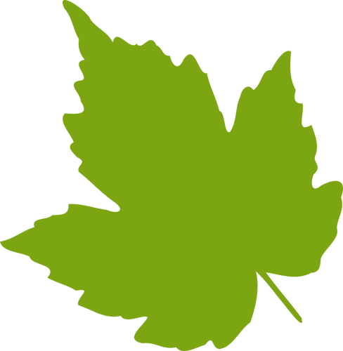 488x500 Green Maple Leaf Vector Image Public Domain Vectors