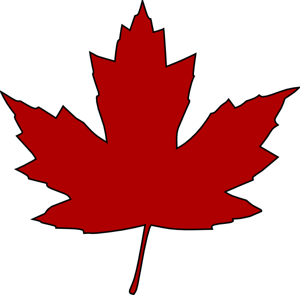 600x589 Maple Leaf Clip Art Free Vector 4vector