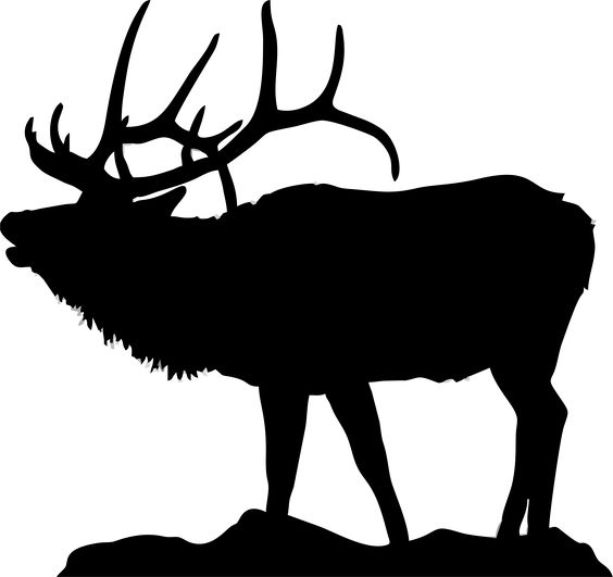 564x531 Silhouette Of Elk For Flat Bottom Bowls Httpwww.clipartpanda
