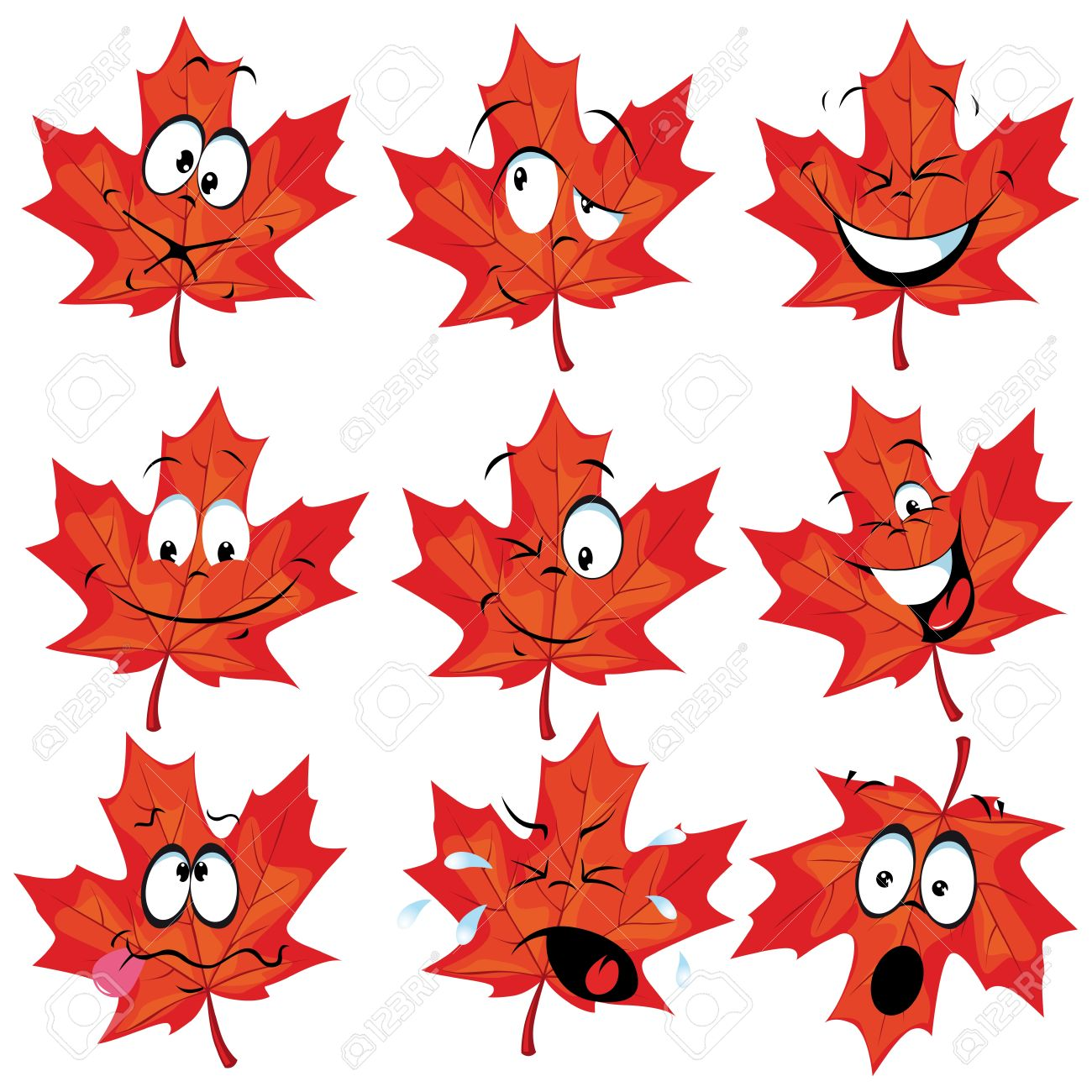 1300x1300 Maple Leaf Clipart Cartoon