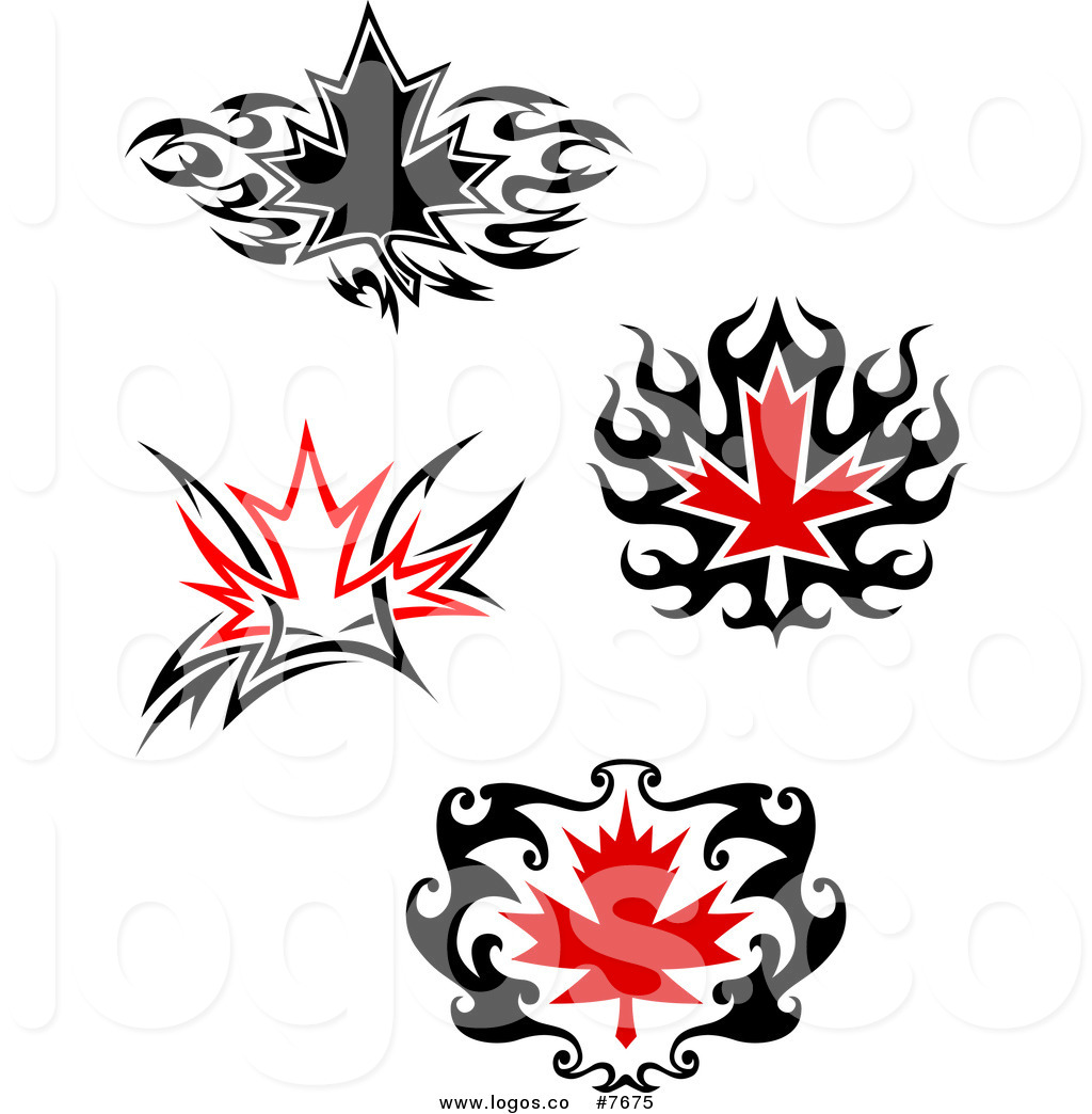 1024x1044 Royalty Free Clip Art Vector Logos Of Black And Red Tribal Maple