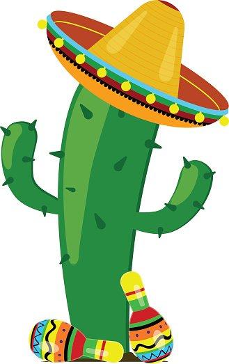 329x523 Cactus Clipart Sombrero