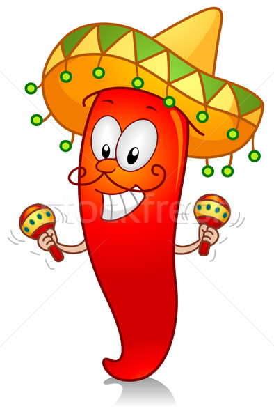 394x600 Chili Playing With Maracas Vector Illustration Lenm ( 539390