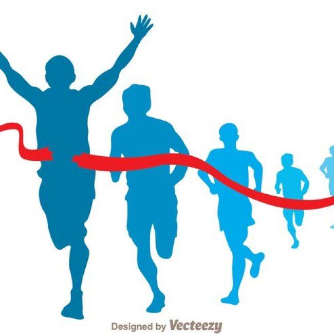 650x650 Free Vector Marathon Runner Vector