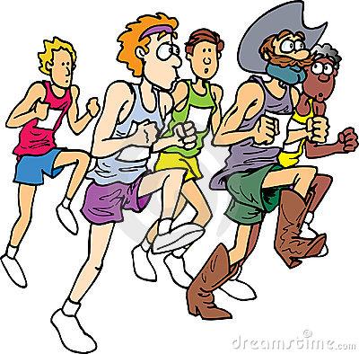 400x394 Marathon Running Clip Art
