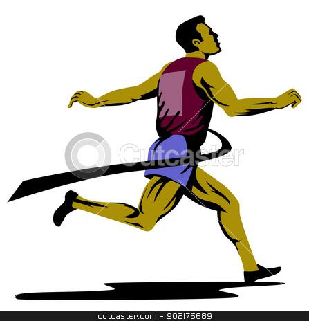 447x464 Runner Finish Line Clipart
