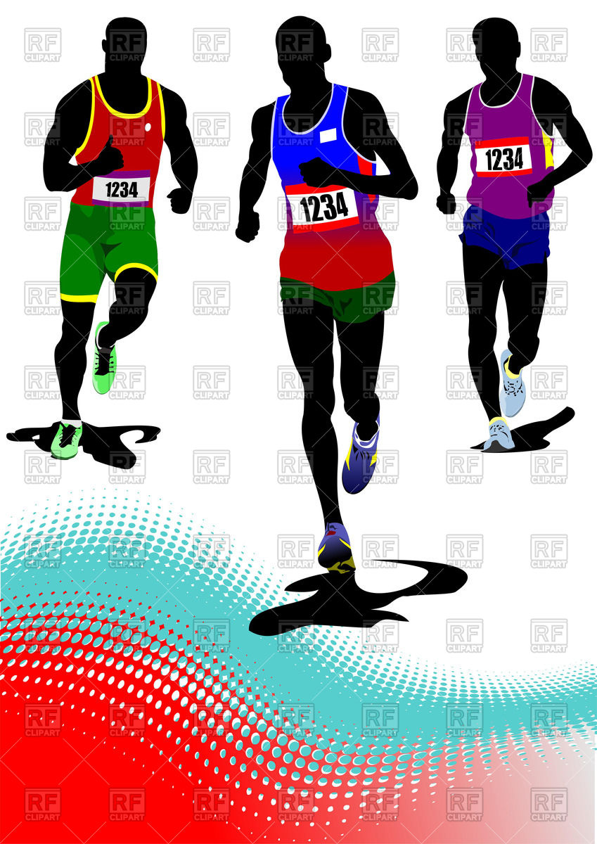 849x1200 Silhouettes Of The Running Men
