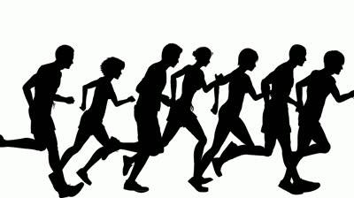400x224 Running Marathon Clipart