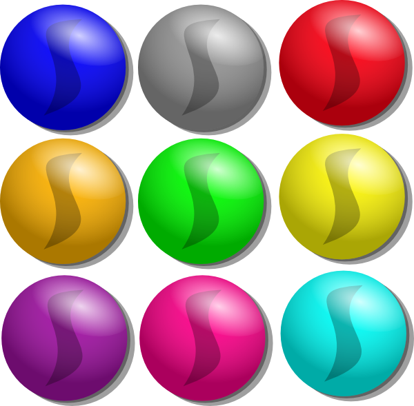 600x589 Game Marbles Dots Clip Art