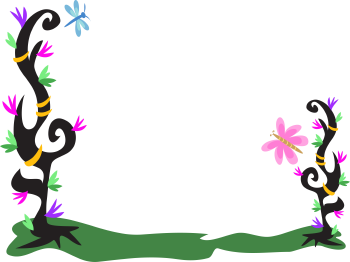 350x262 Free Flower Border Clipart Image
