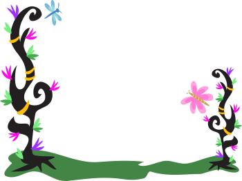 350x262 Free Flower Border Clipart Image