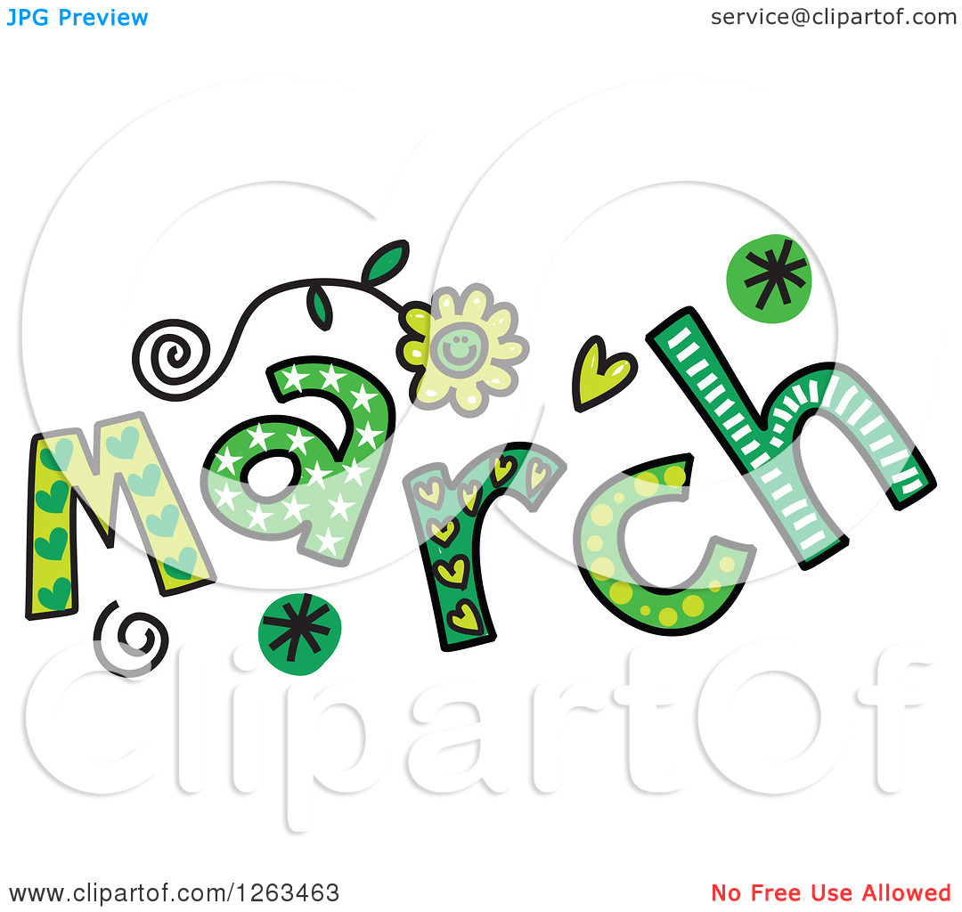1080x1024 Month Of March Clipart