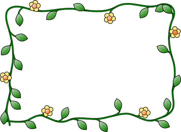 600x437 Spring Borders Clip Art Free