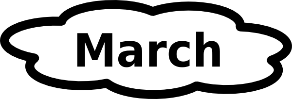 600x204 March Clip Art 2