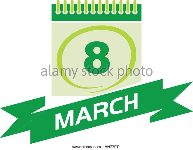 640x497 Calendar Date March Stock Vector Images