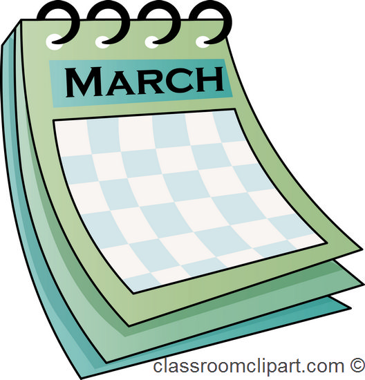 528x550 Calendar Clipart March