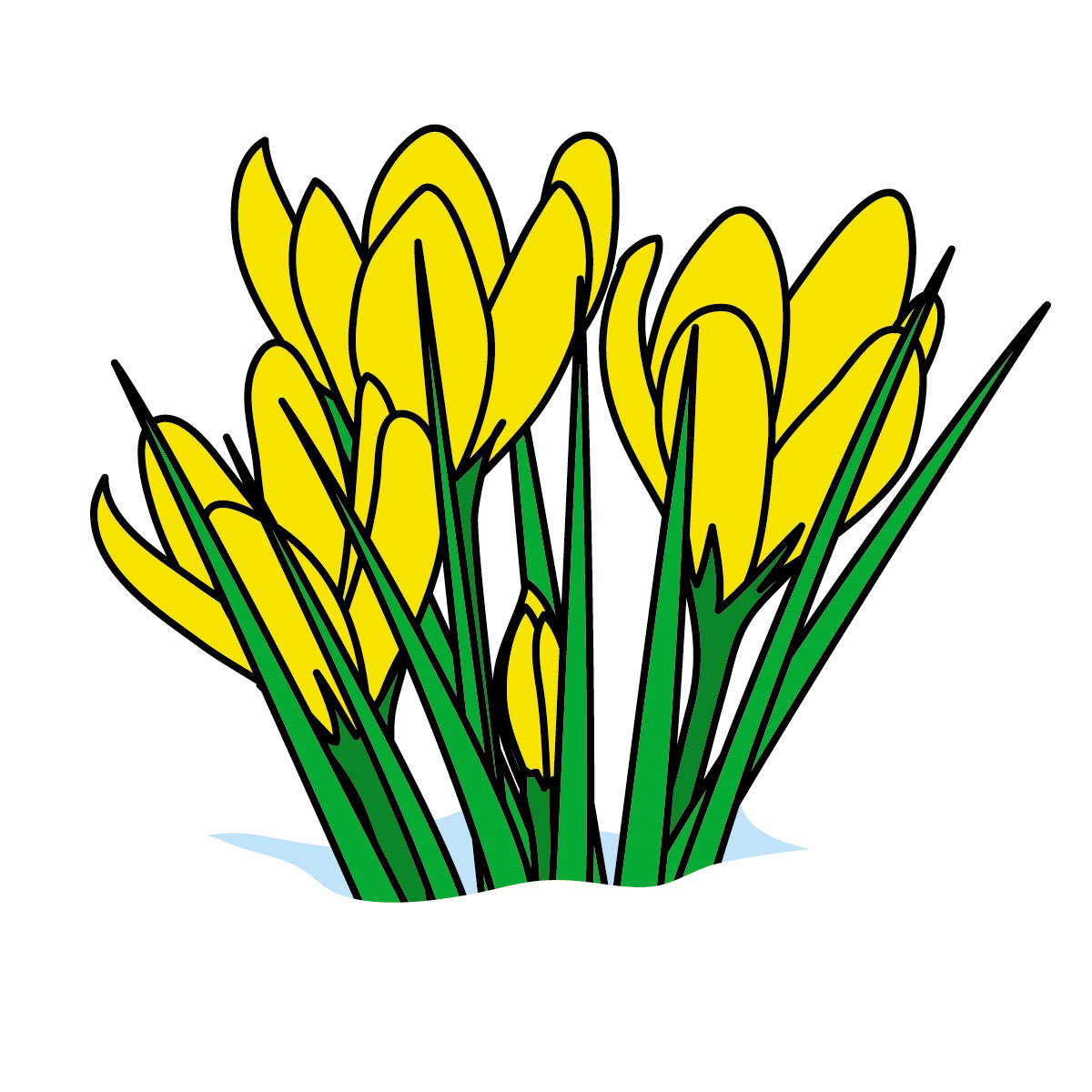 1200x1200 March Flowers Clip Art
