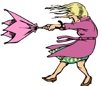 350x294 Windy March Clipart