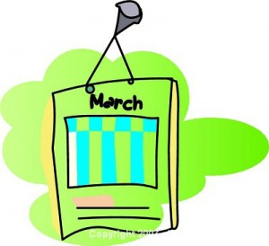300x274 Month Of March Clipart