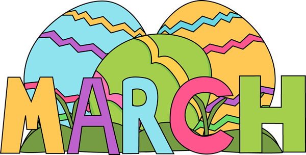 600x304 Month Of March Easter Eggs Clip Art