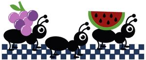 300x123 Ants Clipart Marching