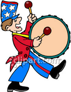 232x300 Band Bass Drum Player