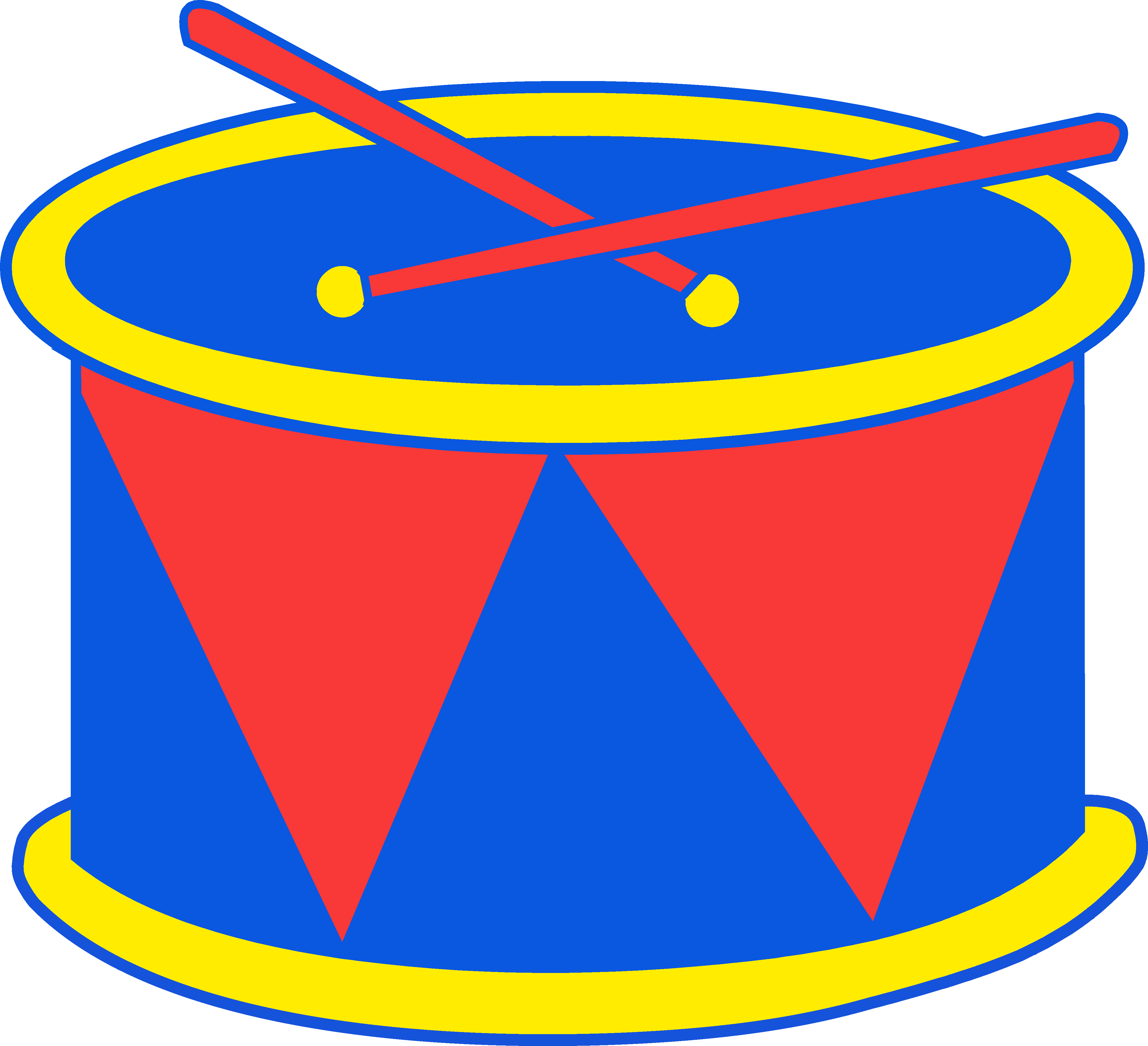 4446x4053 Red And Blue Marching Drum