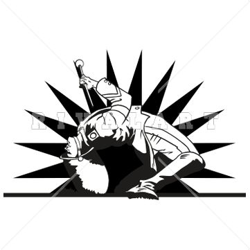 361x361 Sports Clipart Image Of A Marching Band Drum Major Doing A Back