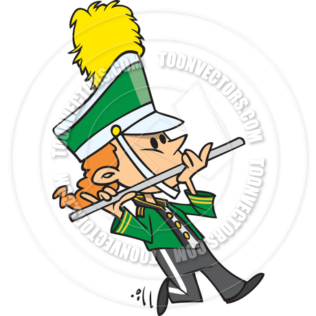 460x460 Cartoon Marching Band Girl By Ron Leishman Toon Vectors Eps