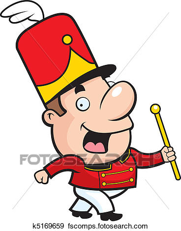 368x470 Clip Art Of Marching Band Conductor K5169659