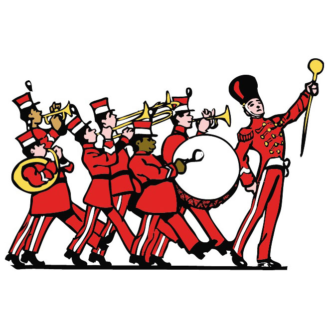 660x660 Marching Band Vector Clip Art
