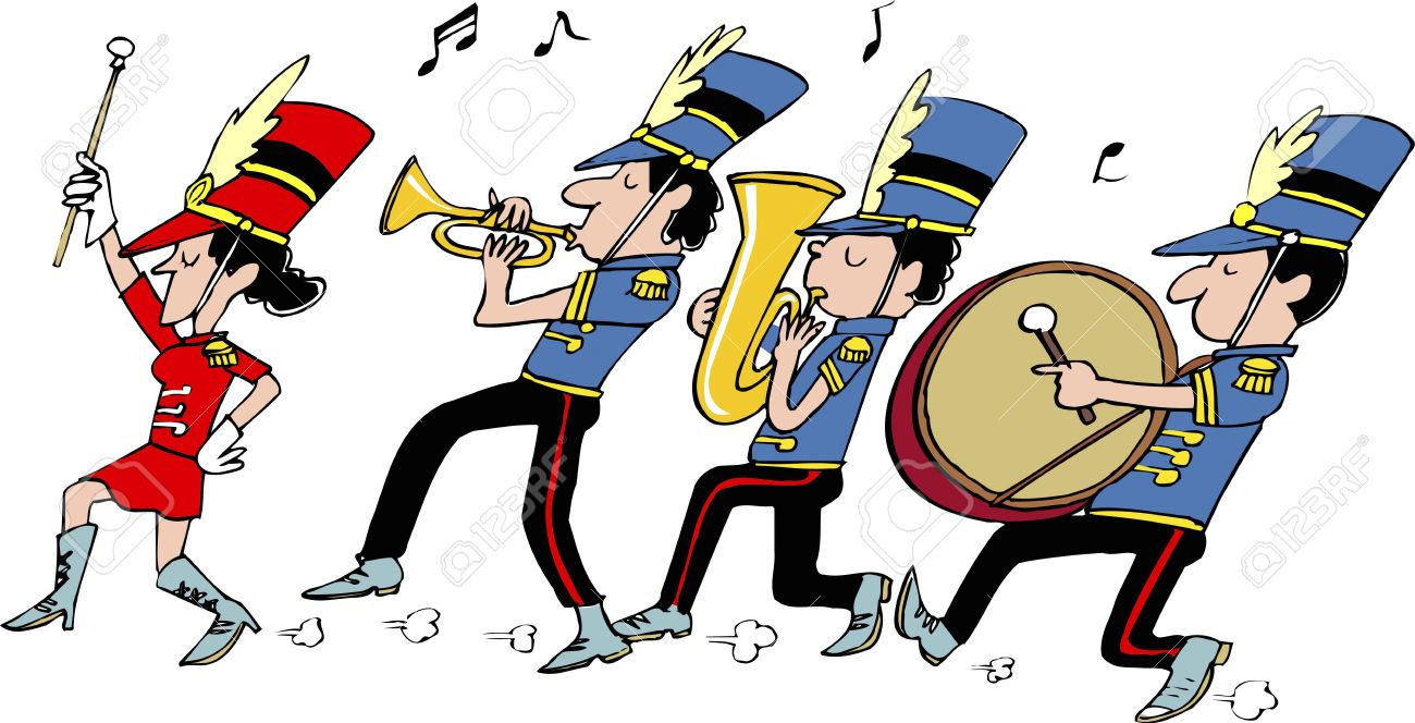 1300x664 Marching Band Clipart