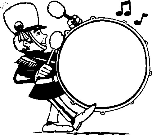 490x437 Marching Drumline Clipart