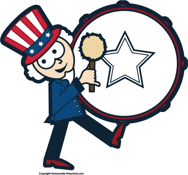 614x573 4th Of July Parade Clipart